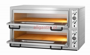 Piec do pizzy dwukomorowy 12 x pizza 30 cm NT 921 BARTSCHER 2002121